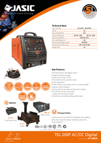 Jasic TIG 200P AC/DC Sales Leaflet