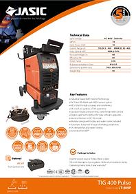 Jasic TIG 400 Pulse Sales Leaflet