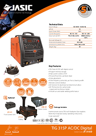 Jasic TIG 315P AC/DC Sales Leaflet
