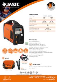 Jasic MIG 200 PFC Compact Sales Leaflet