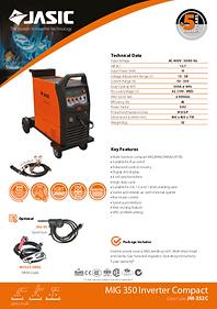Jasic MIG 350 Compact Sales Leaflet