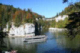 la saut du Doubs, en bateau.