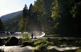 entre France et Suisse, le Doubs à Goumois