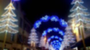 Montbéliard, les lumières de Noël.
