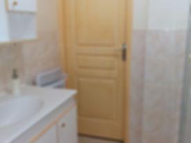 Das Badezimmer mit Dusche.