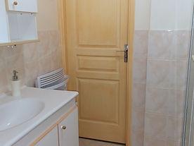 La salle d'eau avec vasque et douche