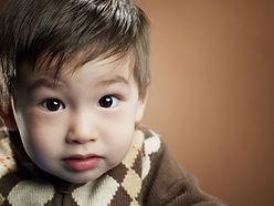 little boy's face