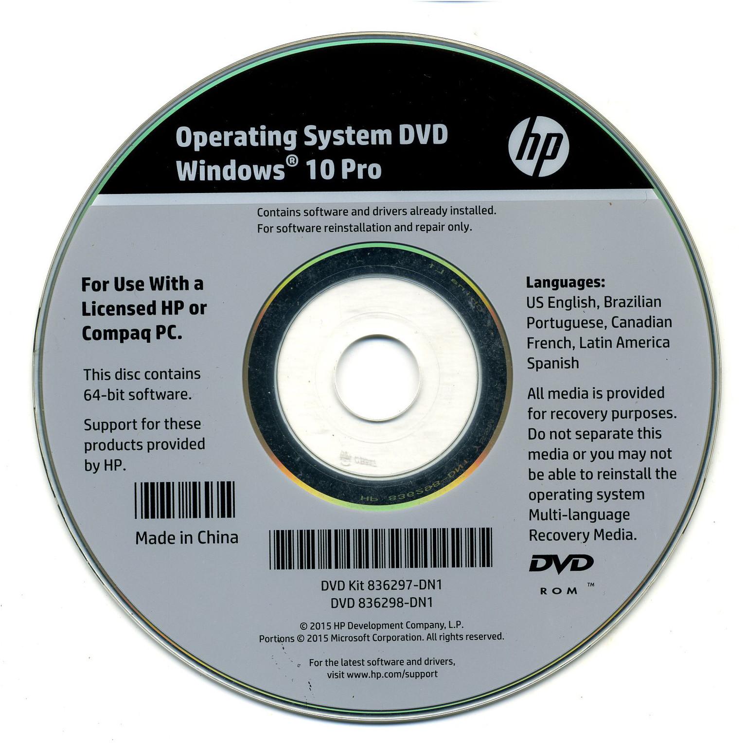 HP Driver OS DVD jpg