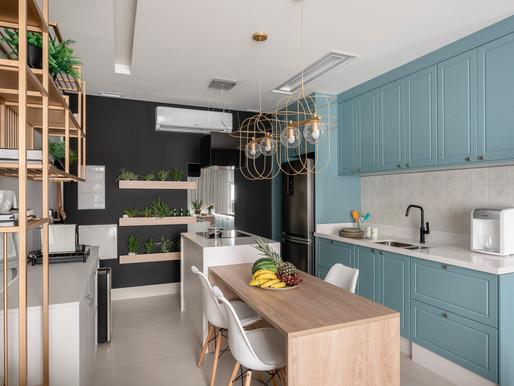 Apto jovial com integração e sofisticação na medida certa definem loft de 40 m²