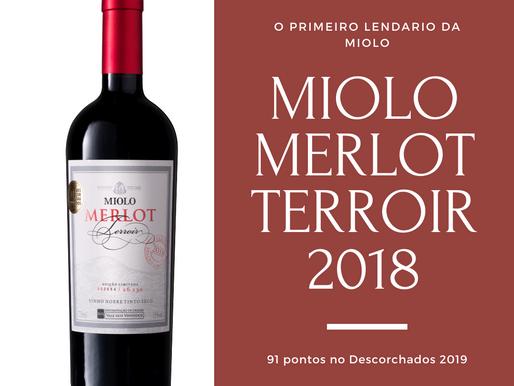 Merlot Terroir 2018, o primeiro lendário da Miolo