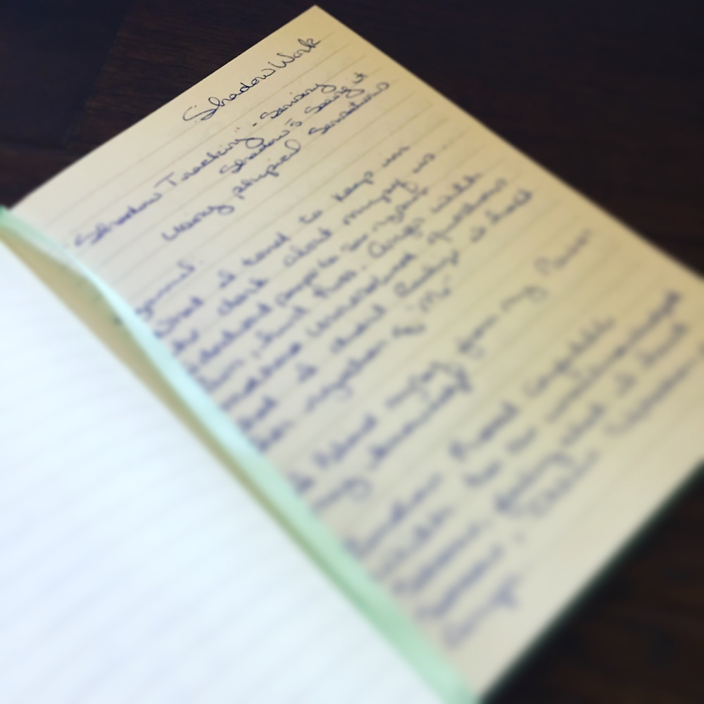 My journal writing from discovering my shadow