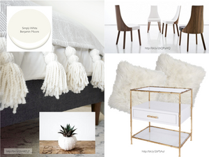 White Decorating Mood Board