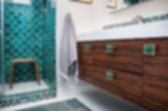 Moroccan Fish Scale Tile Bathroom