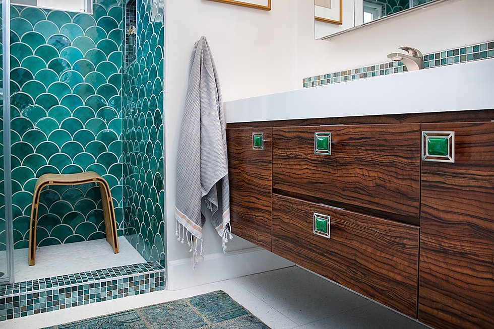 Moroccan Fish Scale Tile Bathroom