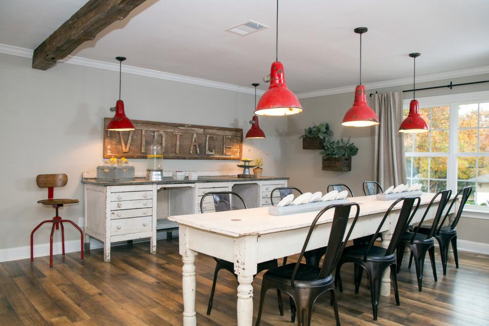 Red Vintage Pendant Lamps