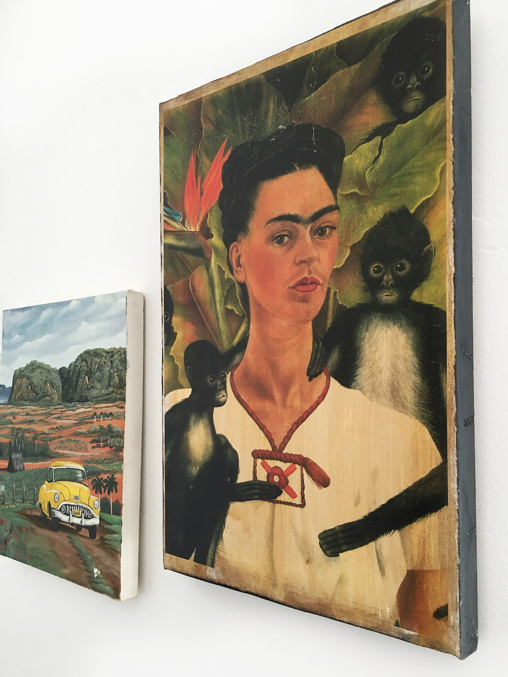 After: Frida Kahlo wall art