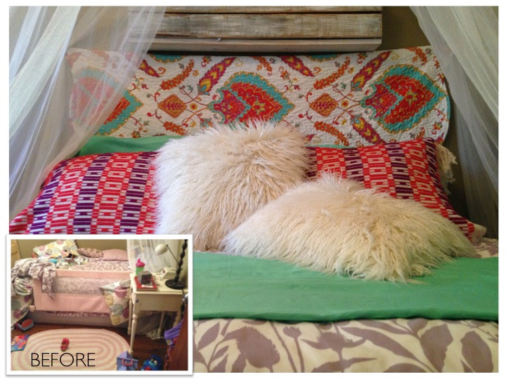 Before and After - Girls Bedroom Decor
