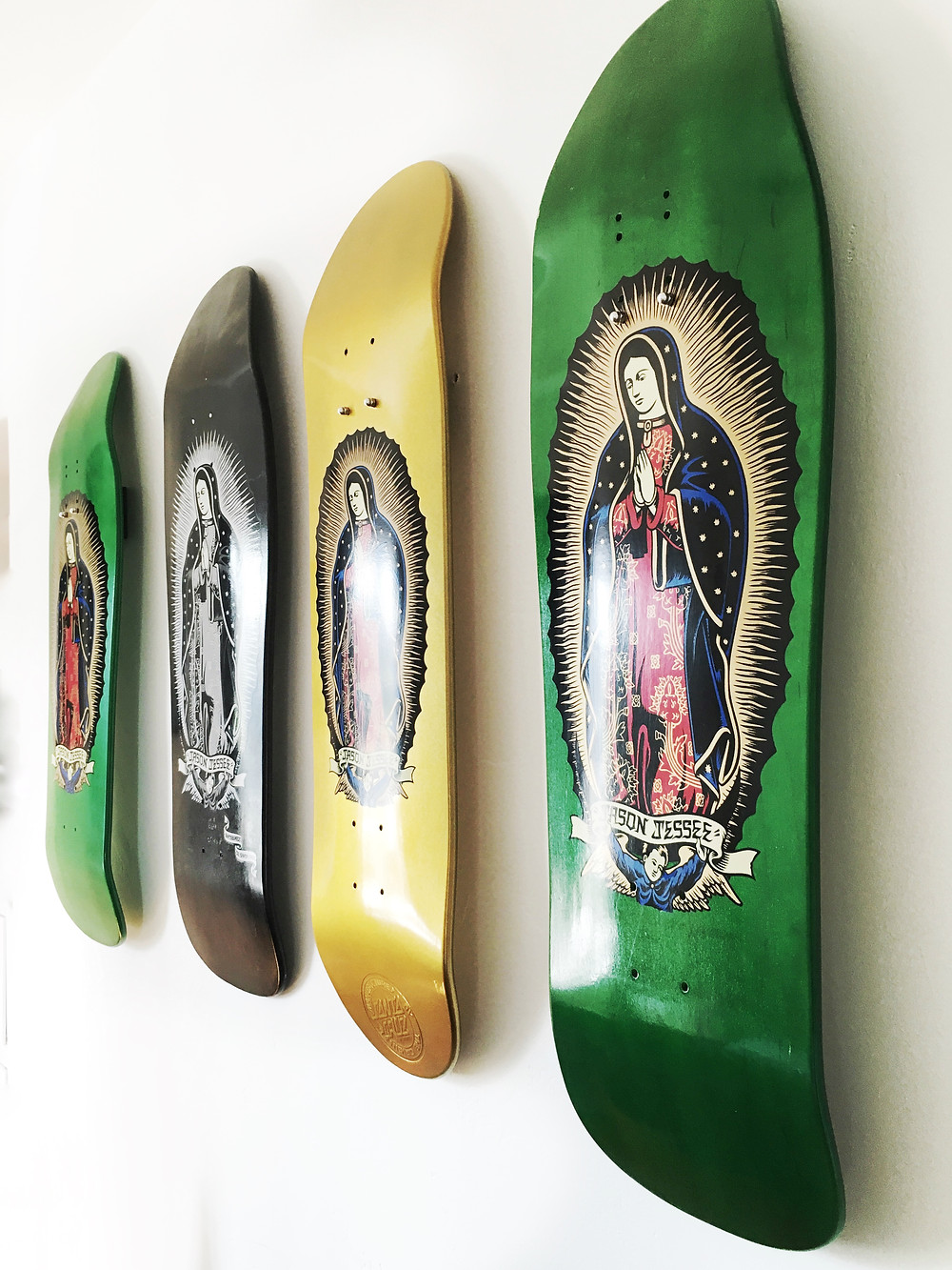 After: Skateboard decks as art