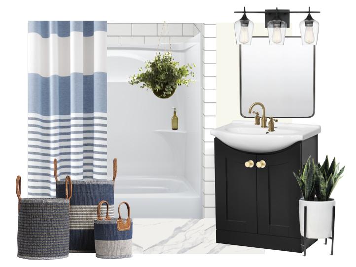 Stylish Rental Bathroom Makeover - Moodboard
