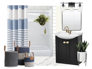 Stylish Rental Bathroom Makeover - Moodboard