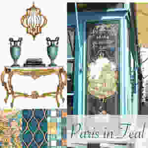 Paris in Teal