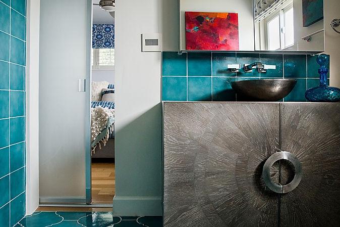 Blue Bathroom La Jolla