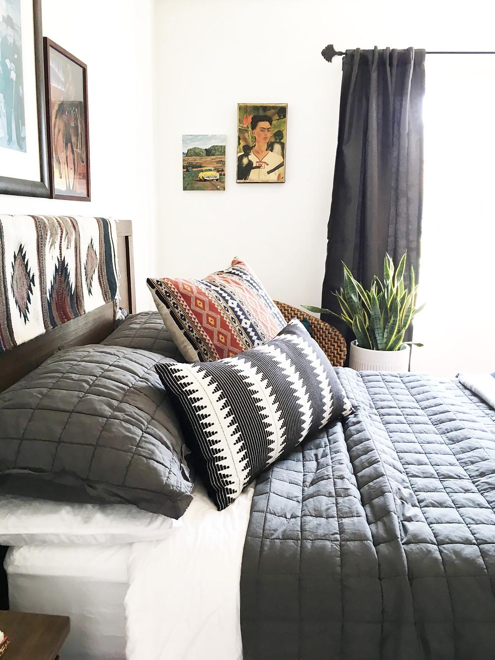 After: Bachelor Bedroom Redesign
