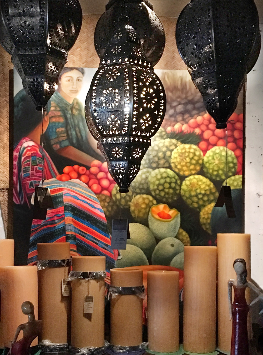 Mexican Lanterns and Vibrant Wall Art
