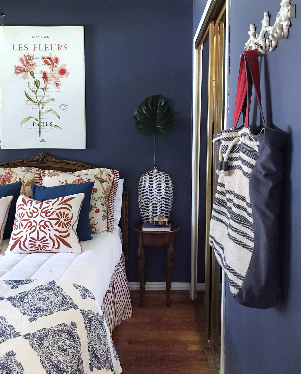 AFTER: Bold and Blue Bedroom Makeover