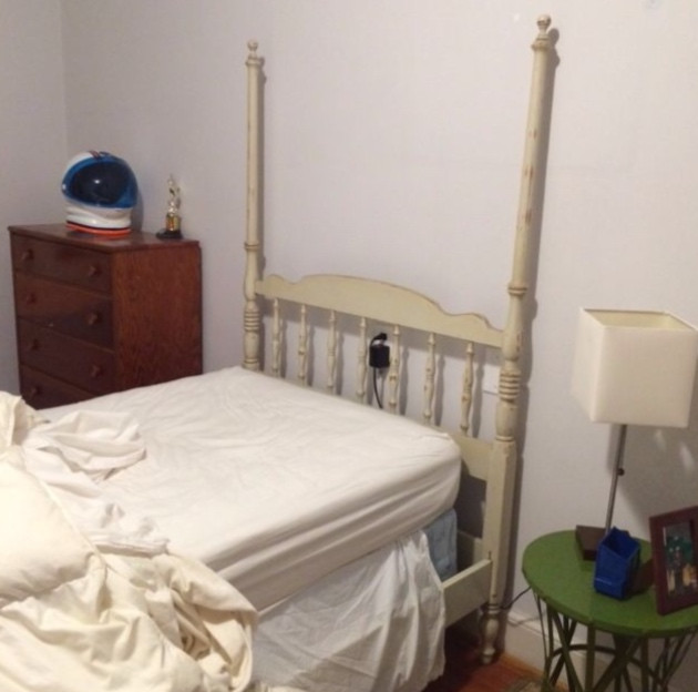 BEFORE - White Vintage Bed