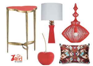 How to 'Go Red' With Your Home Decor