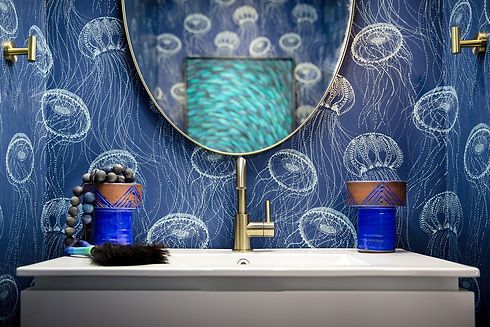 Blue Jellyfish Powder Room