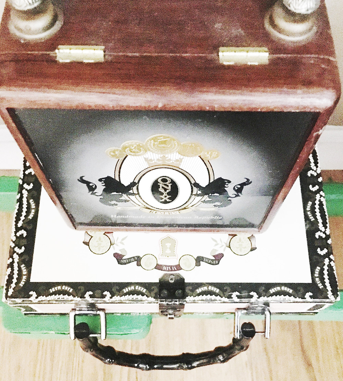 Cigar box purses as storage