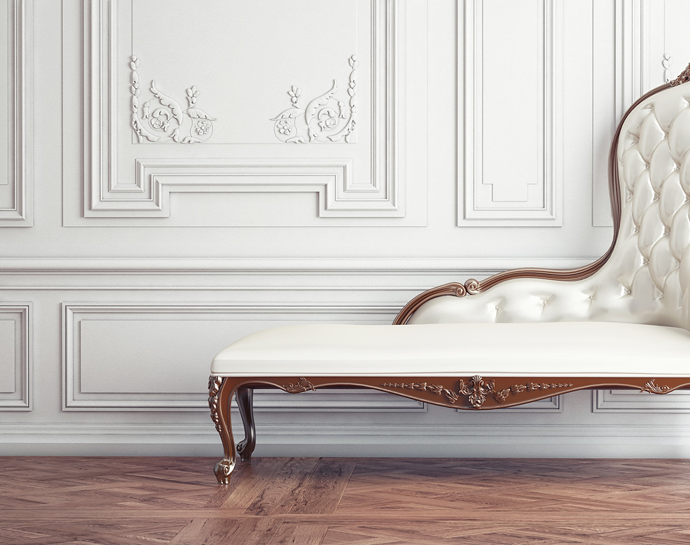 White Antique Settee