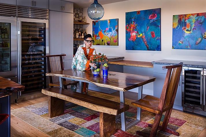 Eclectic La Jolla Dining Room