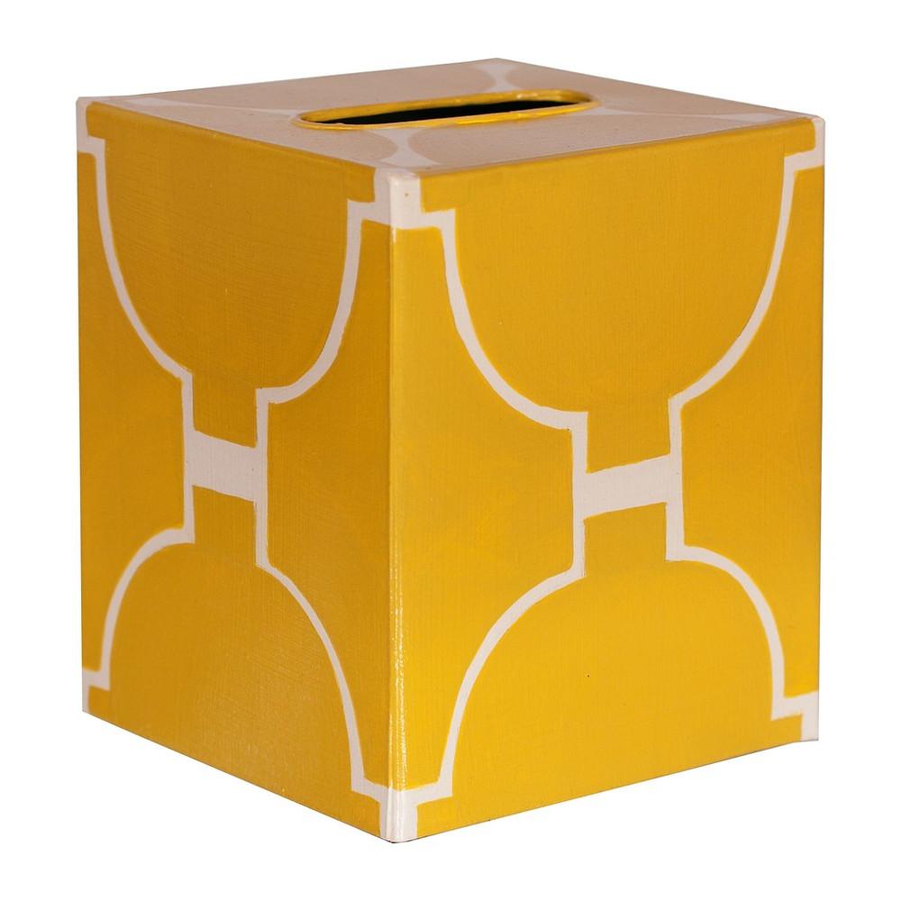 Kleenex Box Yellow and Cream