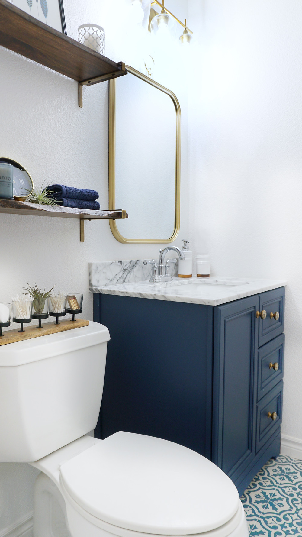 Blue Bathroom Remodel San Diego