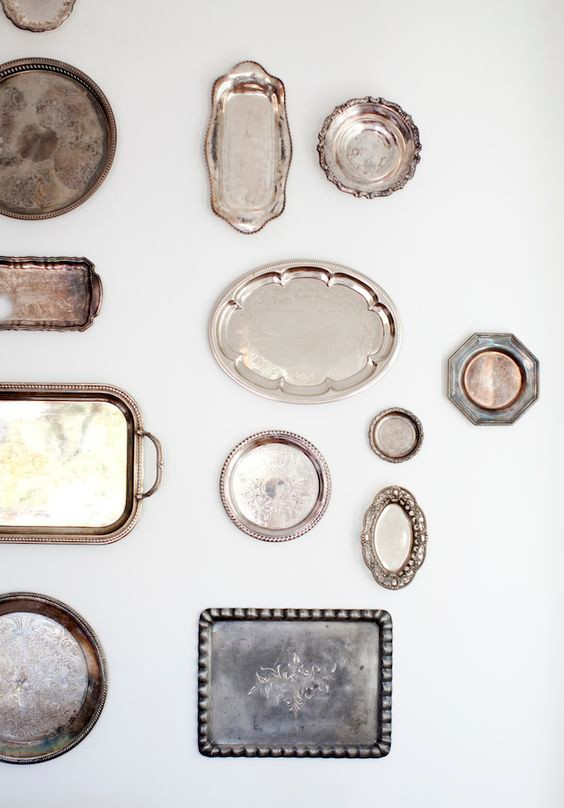 Antique Silver Tray Display