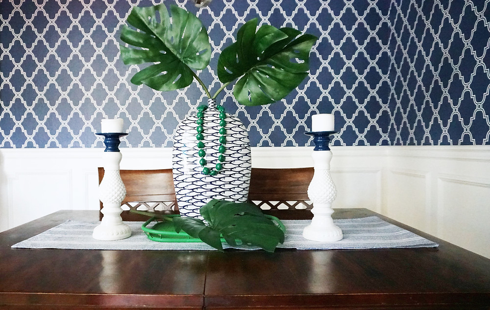 Blue Dining Room Makeover San Diego