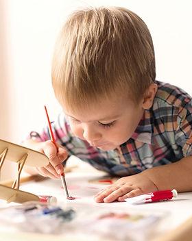 Pintura modelo de avión niño