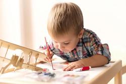Pintura da criança Avião modelo
