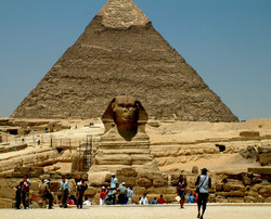 Two icons in one shot Egypt
