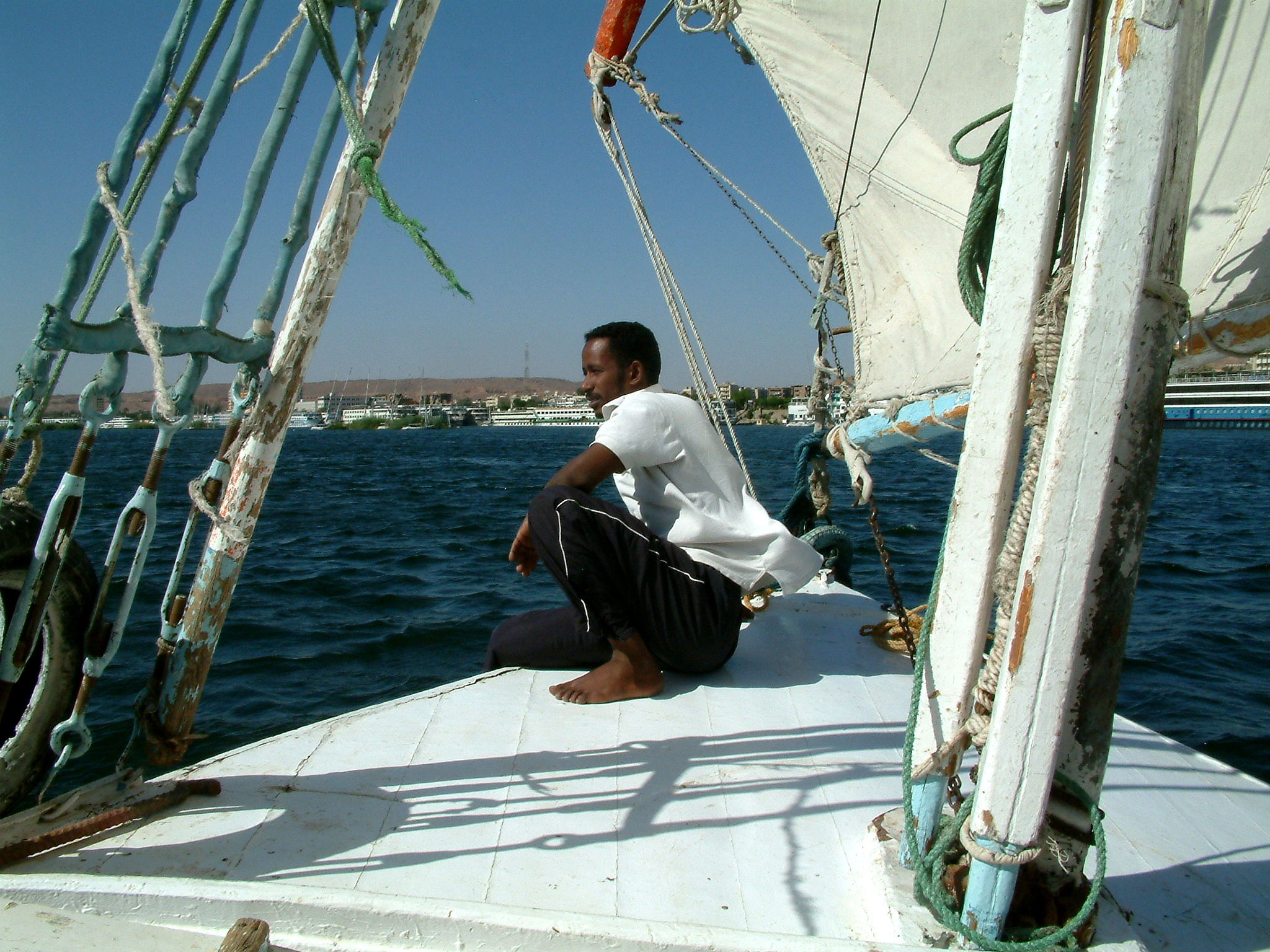 Captain on a short Nile cruise
