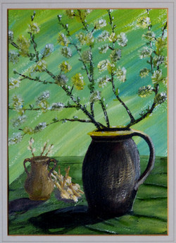 Jug with catkins