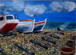 Sketch painting - scene from Eastbourne Beach