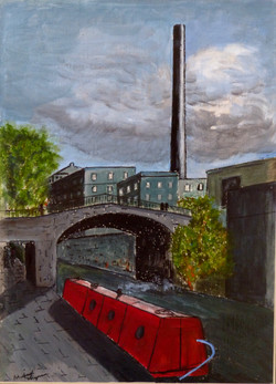 Based on a photo of the canal at Saltaire Yorkshire, the model village built by Sir Titus Salt