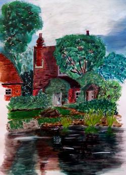 Sketch of cottage by Rudyard Kipling's home