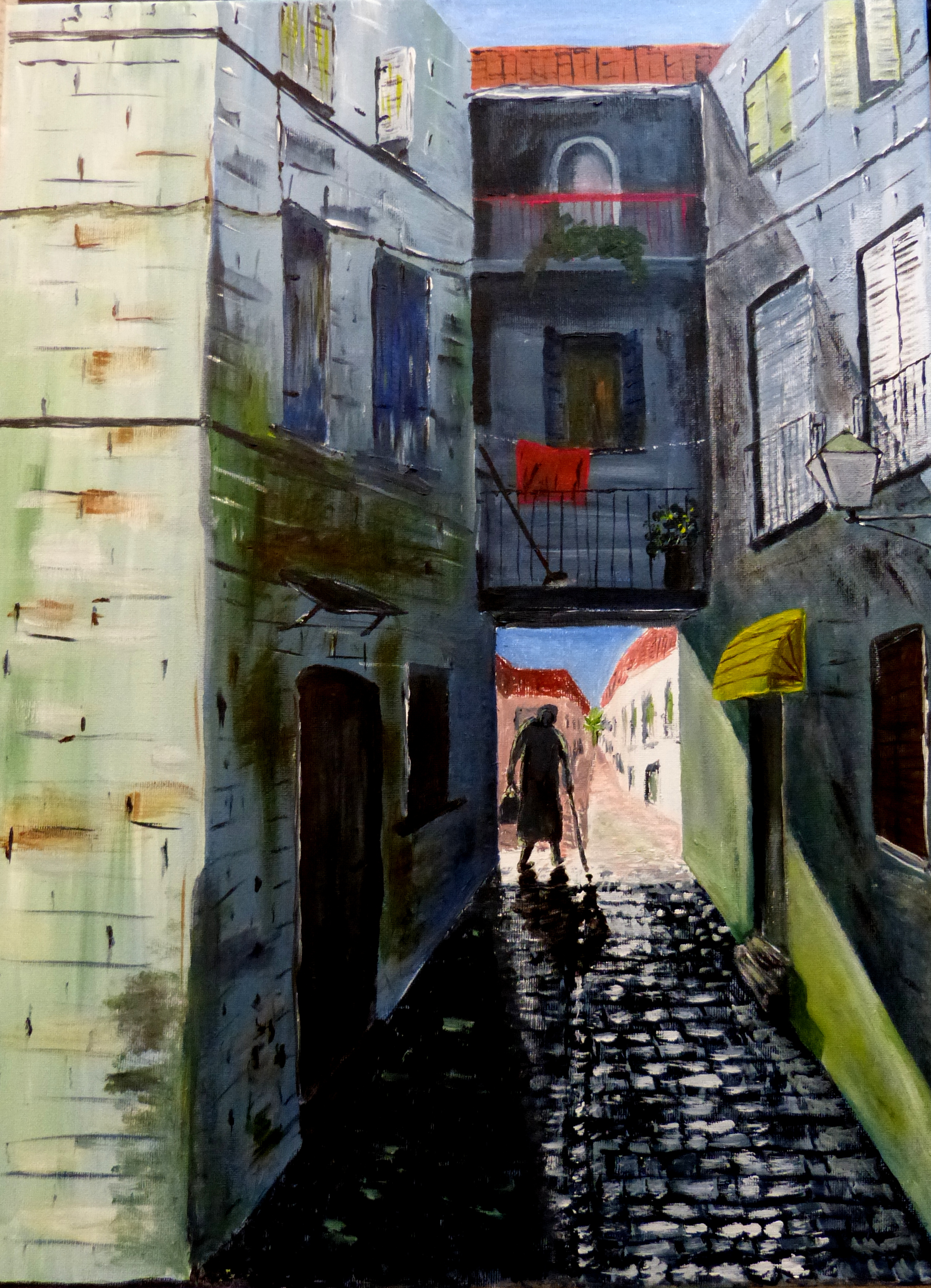 The alley - based on a scene in Croatia
