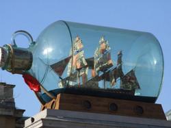 Ship in a bottle - Trafalgar Square