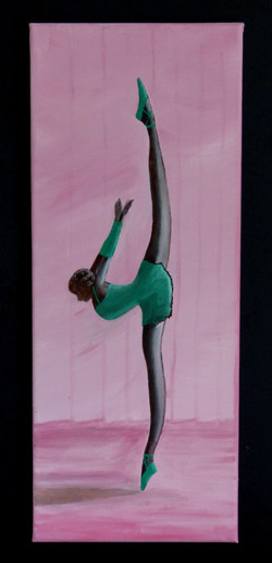 Symbolic ballerina modelled after carving purchased in Cuba